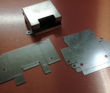 Лазерно рязане на детайл (снимка)